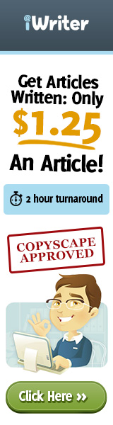 get articles written at iWriter, fast turnaround time and copyscape approved